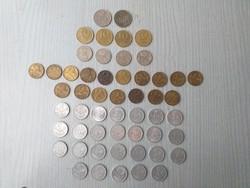 20, 10, 5, 2, 1 Ft-os pénzérmék