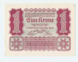 1 Korona 1922 Osztrák - Magyar Bank XF - aUNC