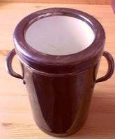Ételt, palackos italt melegen vagy hűvösen tartó, ón edény, retro partikhoz, gyűjteménybe