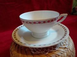 Csésze Német porcelán csésze aljával Sitzendorf márka, teás hibátlan