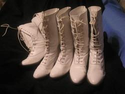 N10 Színház+ filmhez védett Olasz finom bőr magas szárú cipők egyben 35-40-41-es 3 pár