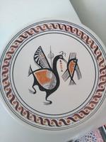 Retro pelikános falitányér