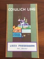 Cosulich Line hajótársaság, Urania óceánjáró, tengerjáró utaslista, 1934