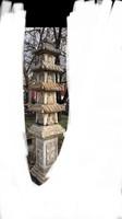 Gautama Sziddhártha Buddha monumentális kő faragvány pagoda