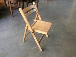 Régi retro összecsukható fa kisszék szék