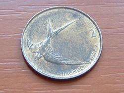 SZLOVÉNIA 2 TOLAR 1993 FECSKE