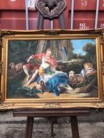Régi olaj vászon festmény