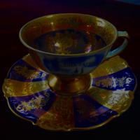 Aranyozott  antik csésze szettek