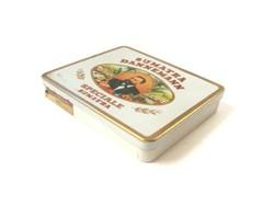 Sumatra Dannemann speciale régi dózni lemez doboz
