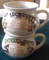 2 db leveses csésze
