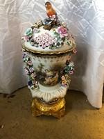 Porcelán képes váza(meissen)