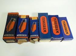 6 darab régi Tungsram rádió cső