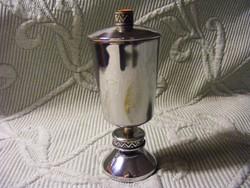 Iparművészeti alpakka fedeles pohár