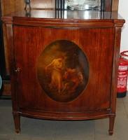 Kézzel festett Copf stílusú antik komód - XVIII - XIX. század. Bécsi műhely! Eredeti!