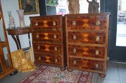 Smízett párban Copf stílusú antik bútorok, - XVIII - XIX. század. Bécsi műhely, eredeti!