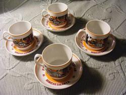 Retro kávés csésze + alj    Fejér Megyei Bauxitbányák - Kincsesbánya
