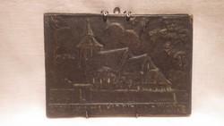 Vizsoly a Magyar biblia bölcsője bronz plakett