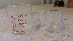 Retro üveg mércés pohár eladó!