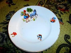 Antik gránit tányér  mese mintás