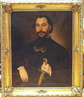 Gyurkovics Károly /1810-1874/:Fiatal nemes portréja,1867