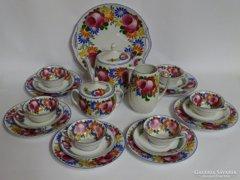 """Antik! 1920-ból! Kézzel festett teás/kávés/sütis porcelán.Gyüjtőknek """"aranybánya"""" :-)"""