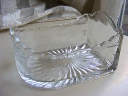 Régi üveg fűszertartó fiók