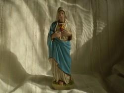Antik gipsz szobor / Mária szíve /
