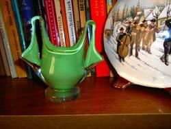 Muránoi rétegelt   üveg váza vagy édesség kínáló