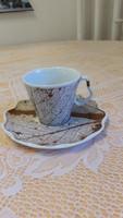 Porcelán reggeliző készlet, csésze, tányér eladó!
