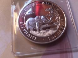 2019 Szomália ezüst elefánt 31,1 gramm 0,999