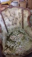 Antik barok Warrings füles fotel