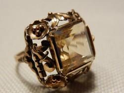 Citrin köves 585/14kr.arany kézműves gyűrű