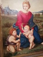 Festmény Madonna a zöldben olaj vászon