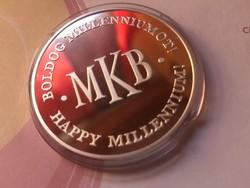 MKB Millenium ezüst érme 31,1 gramm 0,999