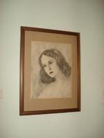 Bartha László Női portré