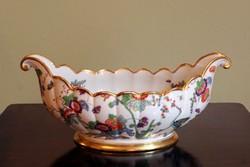 1920 Thomas Bavaria Asztalközép Keleti Motívum Aranyozott Madaras Virágos Rosenthal Porcelán Kínáló