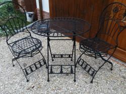 Vintage kerti asztal és szék garnitúra