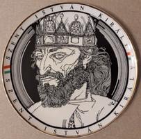 Szász Endre Szent István falitányér 24,5 cm Új termék!