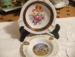 Egy Limogesi és egy német porcelán kis tálka