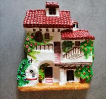 Vintage dísztárgy spanyol kerámia falidísz