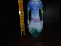 Szecessziós porcelán ibolyás váza