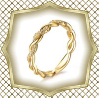 Gold Filled karikagyűrű GFGY-SW32-2-19