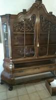 Antik barok tálalószekrény 200x230x50cm