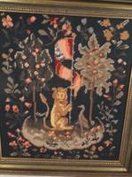 Kép - Gobelin-régi bécsi- a XV, századi Cluny falikárpitok alapján a század elején készült.