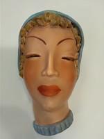 Izsépy Margit kerámia fali maszk