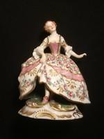Erotikus bécsi porcelán figura a XIX századból