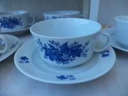 Alföldi kékvirágos teás készlet új állapotban.