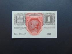 1 korona 1916 Hajtatlan szép ropogós bankjegy