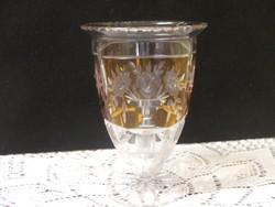 Régi csiszolt üveg váza