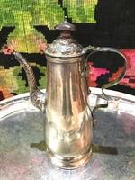  Angol Antik  ezüstözött kávés vagy teás kanna jelzett